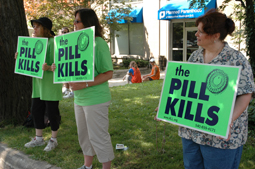I think these pro-life advocates mean well, but that they are overstating their case. Image source: ThePillKills.org