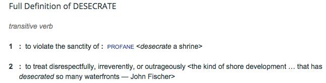 desecrate definition