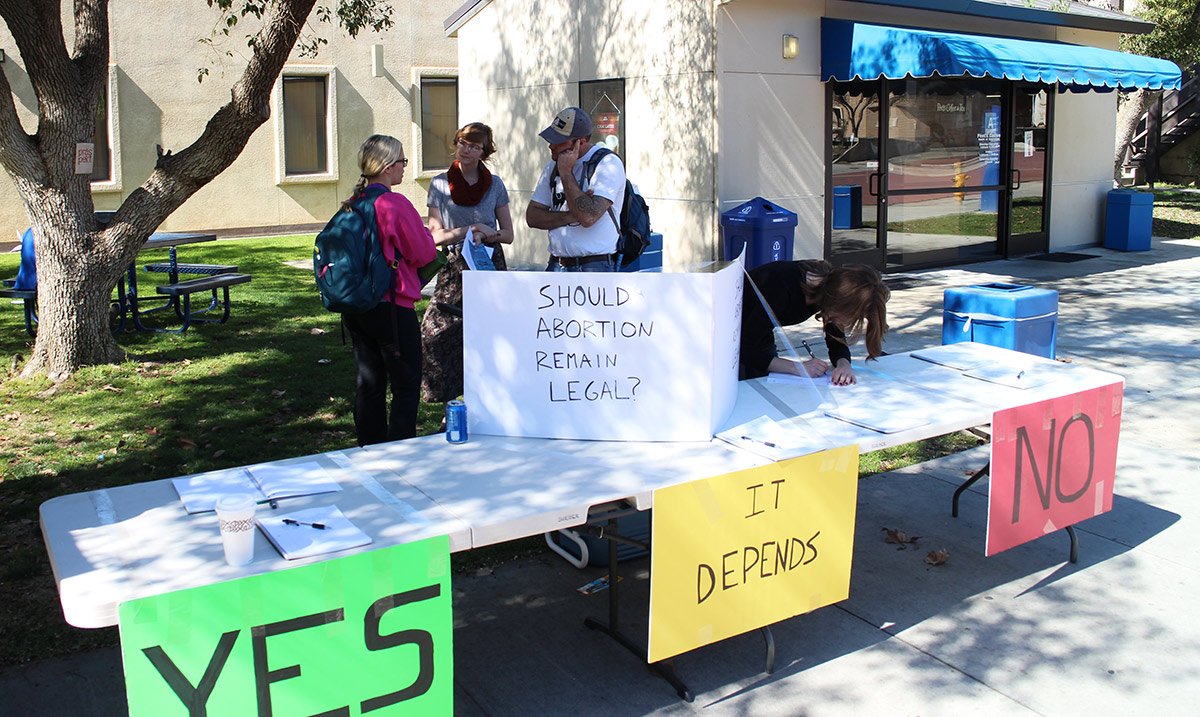 This was our first day using our new and improved SARL table, at UC Bakersfield on February 23rd, 2015.