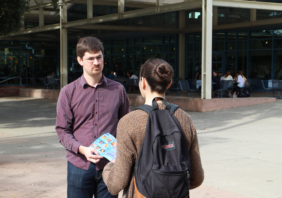 """Timothy allows a student to have a """"thinking pause"""" at UC Davis."""