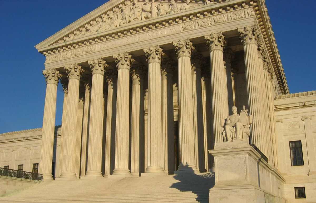 """Photo: Supreme Court Building. """"Pro-Choice Doesn't Have to Mean Pro-Roe"""""""