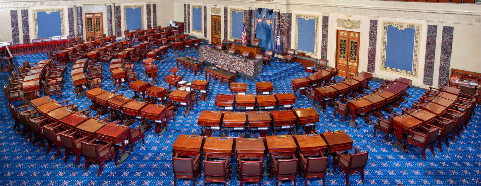Picture: The United States Senate chamber where the ERA will be debated.